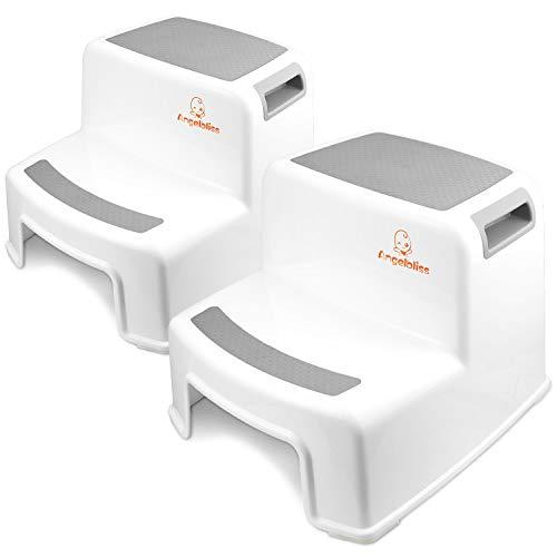 Reposapiés, cuna, cuna y baño para niños Angelbliss, apto para mayores de 3 años (dos piezas gris)