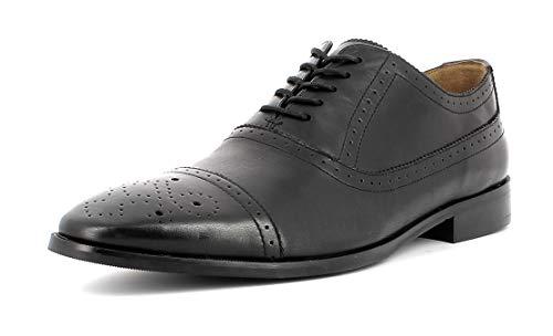 Gordon & Bros Herren Businessschuh, City S181834 Männer Halbschuh,Schnürschuh,Derby Schnürung,Anzugschuh,Office,Büro,Black,43 EU / 9 UK