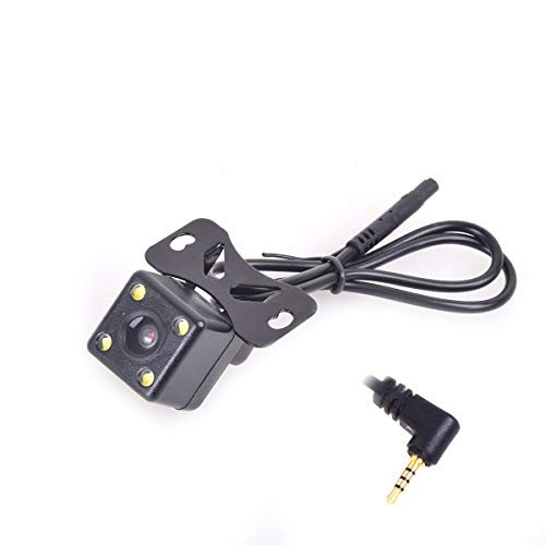 12-24V Auto Rear View Backup Camera 2.5mm AV-in for Car DVR Camcorder Black Box Recorder Dash Cam Dual Recording Aux Stereo GPS Tablet Video Input