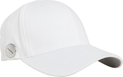 Flexfit Golfer Magnetic Button Cap, white, L/XL