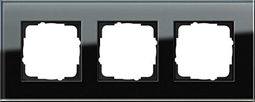 Gira 021305 frame 3-voudig Esprit-glas, zwart