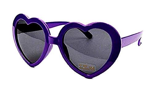 KIRALOVE Gafas de sol vintage para mujer con corazón - divertido - lolita - polarized uv400 - morado - casual - moderno - niña