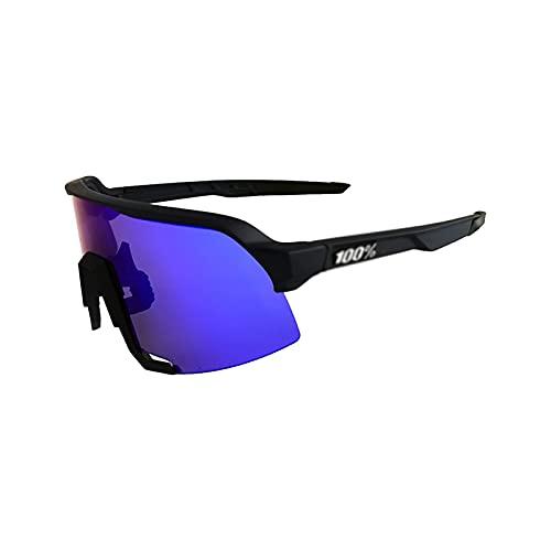Gafas de ciclismo deportivas polarizadas para hombres y mujeres, para montar a caballo, golf, béisbol, al aire libre, con 3 lentes intercambiables C1