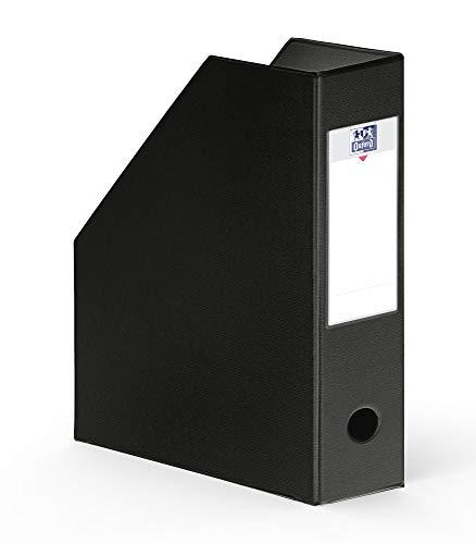 OXFORD Lot de 10 Porte-Revues en PVC Format 24 x 32cm Dos 10 cm Noir