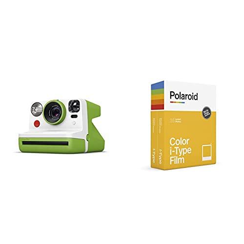 Oferta de Polaroid - 9029 - Polaroid Now Cámara instantánea i-Type Verde + Película instantánea Color para i - Type - Pack Doble, 6009