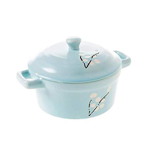 LSNLNN Ollas, Cocina, Mini Cazuela de Cerámica Sopa de Cerámica con Tapa Arcilla Resistente Al Calor Estofado de Arcilla Saludable para Sopa de Guisado Leche Moldeada