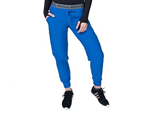 Elements Select ES2386 Veterinarian Dentist Nursing Jogger Scrubs Pants for Women (Royal, XX-Small)