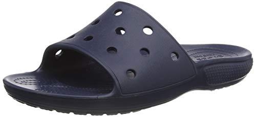 crocs Unisex-Erwachsene Classic Slide Schiebe-Sandalen, Blau (Navy 410), 39/40 EU