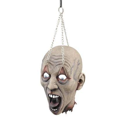 Splatter Horror Kopf 2.0 Monster Schädel Henker Höllen Deko Halloween Grusel Party Spaß Lebensgroß und wie echt Latex Ware