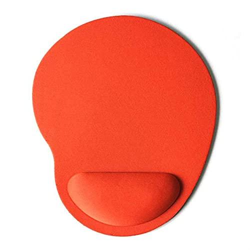 BEIMODZ Alfombrilla de Ratón Color sólido Alfombrillas de ratón EVA Pulsera Mates cómodos Mater para Juego PC PC Portátil Portátil Muñeca Protectora Mousepad Mejor Regalo (Color : Orange)