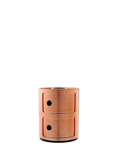 Componibili Lot de 2 boîtes en cuivre poli Hauteur 40 cm Diamètre 32 cm