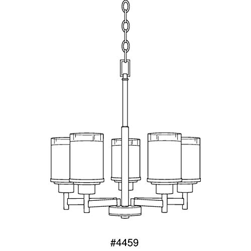Progress Lighting P4459-09 Chandelier, 20-Inch Diameter x 19-13/16-Inch Height, Nickel 4