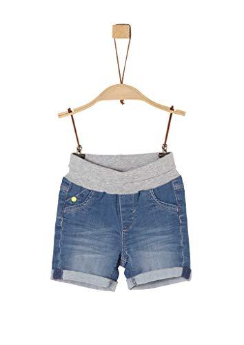 s.Oliver Unisex - Baby Jeansshorts mit Rippbund blue stretched den 86.REG