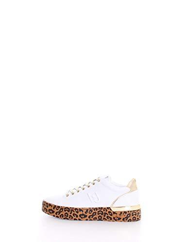 Scarpe Donna Liu-Jo Sneaker MOD. Silvia in Ecopelle Bianco/Gold DS20LJ12