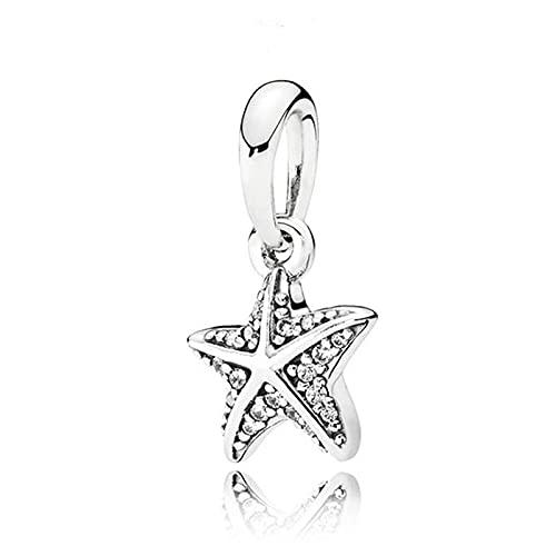Auténtica Pandora 925 Cuentas De Plata Esterlina Diy Perla Tropical Estrella De Mar Colgante...