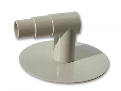 well2wellness® Pool Skimmerplatte Skim-Vac/Saugplatte mit Anschlussstück 90° Winkel