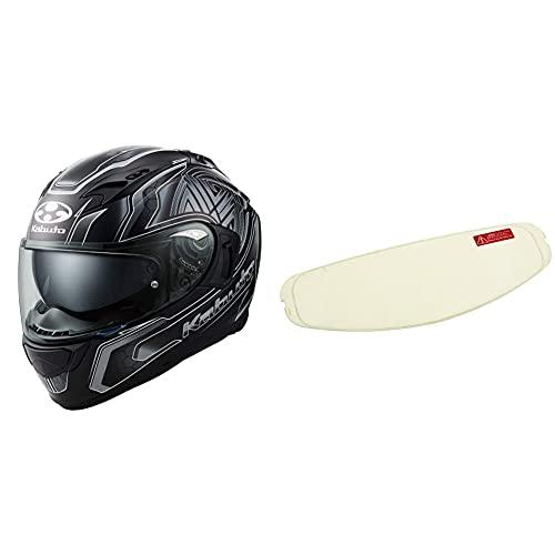 オージーケーカブト(OGK KABUTO)バイクヘルメット フルフェイス KAMUI3 CIRCLE(サークル) フラットブラックシルバー (サイズ:XL) 585754 & CF-1W ピンロックシート クリア556327【セット買い】