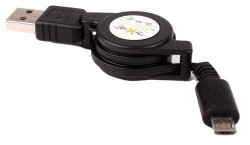 DURAGADGET Cable De Sincronización para iOcean Rock M6752 - Conexión USB A Micro USB - Extensible