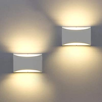 Sobrovo LED Wall Sconces Modern Wall Lighting With7W LED G9 Cap Type Gypsum Material Wall Mounted Lights Warm White