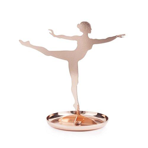 Kikkerland JK08-CO Ballerina-Schmuckständer, Kupfer