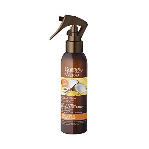 Bottega Verde, Keratina e Cocco - Latte spray protettivo lisciante senza risciacquo - con Keratina e olio di Cocco (150 ml) per capelli lisci o da lisciare