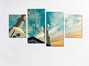 Mosque Modern Islamic Muslim Ramadan Moon-Hand-Painted Oil Painting on Canvas,Abstract Wall Art Paintings for Living Room ...