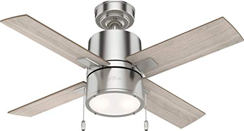 Hunter Fan Company 53432 Beck Ceiling Fan, 42, Brushed Nickel
