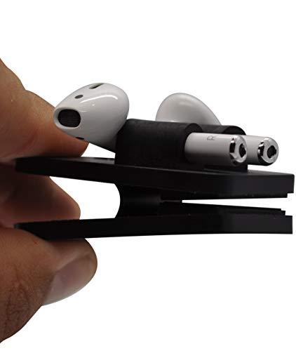 Air-Clip Accessorio Protezione con Clip per Air Pods Compatibile Porta Airpods Originali per Auricolari Apple AirPods 2 e 1 e PRO Antiurto Senza Custodia e Cover (Colore Nero)