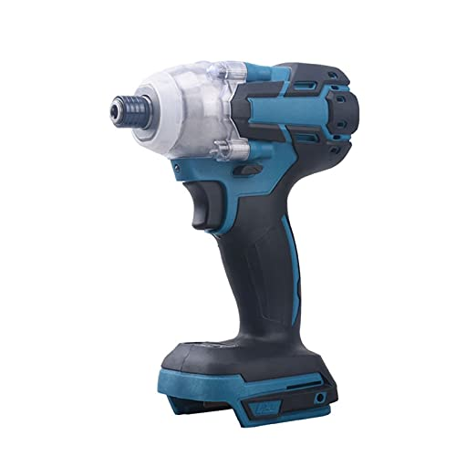Taladro de impacto inalámbrico Destornillador eléctrico Controlador de impacto Recargable 1/2 pulgada Llave Herramientas de alimentación compatibles con la batería Makita 18V (sin batería y cargador i