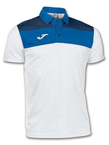 Joma Polo Crew Chemise pour Homme XXS Blanc-Bleu Marine - 207