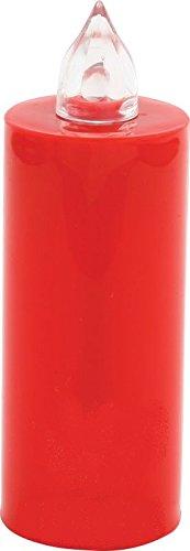 MINI Lumino Rosso a LED effetto fiamma durata 100 giorni - batterie sostituibili - LOCULI CIMITERO