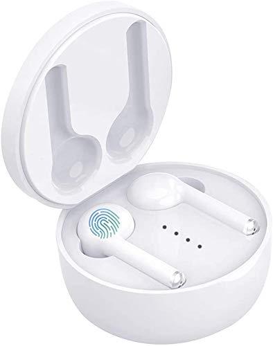 Hongyu2019 【2019 Neueste】 Bluetooth Kopfhörer, Wireless Earbuds mit CVC 8.0 Geräuschisolierung für kristallklares Klangprofil, 40 Stunden Akkulaufzeit,für Arbeit und unterwegs (Weiß)