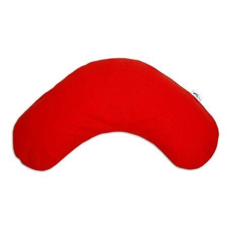 Theraline Nackenkissen groß Außenmaß: ca. 110cm x 34 cm, EPS-Mikroperlen, Jersey rot