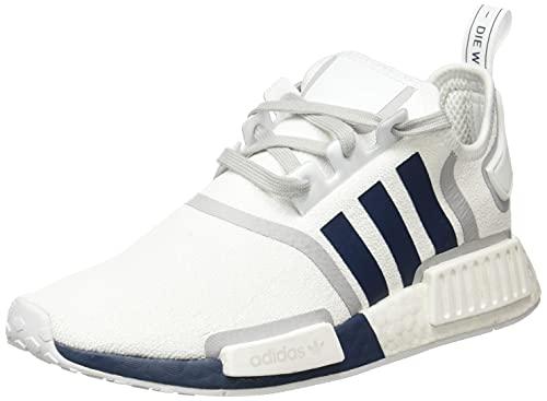 adidas Herren NMD_R1 Sneaker, Cloud White/Crew Navy/Grey, 44 EU