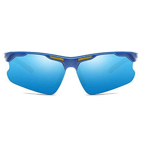 LCSD Gafas de sol polarizadas para hombre, material de policarbonato, coloridas, para montar al aire libre, montañismo, UV400, gafas de sol de tendenc...