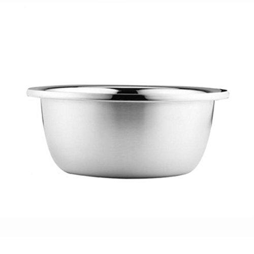 MXJ61 Pot en Acier Inoxydable Pot en Poudre Plus épais Deepen Wash Vegetables Pots Pots de Cuisine Ronde Soup Bowl Lavabo (Taille : 20cm)