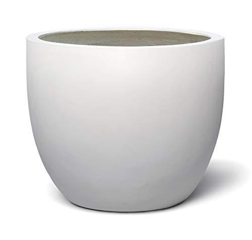 VAPLANTO® Pflanzkübel Egg Pot 60 Weiß Rund XL * 55 x 55 x 46 cm * 10 Jahre Garantie