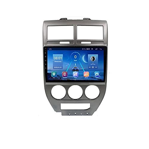 GOHHK Radio De Automóvil para Jeep Compass MK 2006-2010 con Sistema De Vista De Aves 4 Cámara 360 Autoradio Multimedia Video Player Navegación GPS 2din(Size:Cuatro nucleos,Color:WiFi:1GB+16GB)