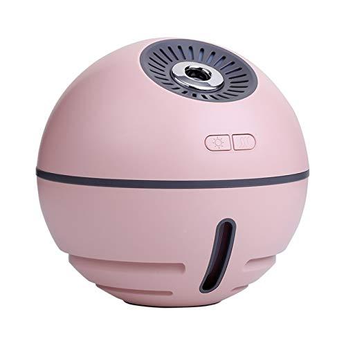 MHBY Humidificador, humidificador de Aire ultrasónico de 300 ml, 2000 mAh, con batería, Bola Espacial, Aroma portátil, difusor de Aceite Esencial, pequeño Ventilador eléctrico, atomizador