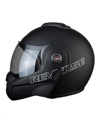BHR 807 REVERSE 807 Reverse Modulare Casco Moto Apribile 180°, Nero Opaco, M