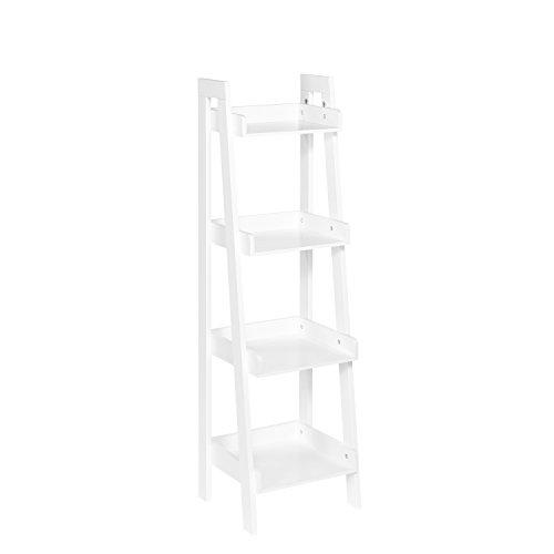 RiverRidge 4-Tier Ladder Shelf for Kids, White
