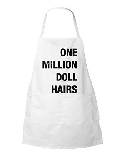 ArthuereBack Grappige schorten een miljoen pop HAIRS Keukengerei chef-kok koken schort schort Pocket schort slager schort geschort geschort papa geschenken Nostalgie