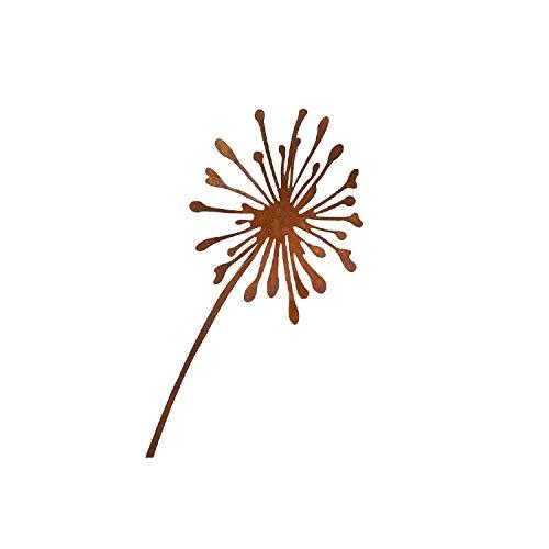 Metall Stecker. Pusteblume. Rost Gartenstecker, Metallstecker, Dekostecker. Blume 90 cm. Art.: 68975