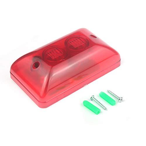 Taikuwu 12V 105 dB 15W Verdrahtete Blitz-Sirene, Schutzalarmsystem, Ton-Alarm Strobe blinkendes rotes Licht 120dB für inländisches Wertpapier