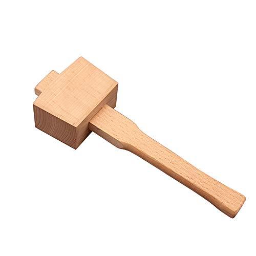 Buche Holzhammer Hammer, mit bequemem Griff geneigte Schlagfläche Holzbearbeitungshammer für DIY Zimmerei Holzbearbeitungswerkzeug (245mm)
