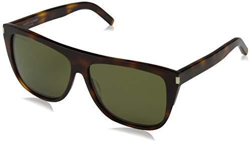Saint Laurent Unisex-Erwachsene SL 1 003 Sonnenbrille, Braun (AVANA/GREEN), 59