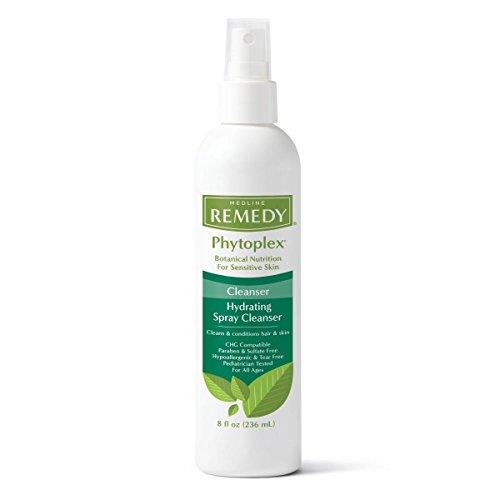 Medline Remedy Phytoplex Hydrating Spray Cleanser, No-Rinse Body Wash, Paraben and Sulfate-Free, 8 fl oz (Case of 12)