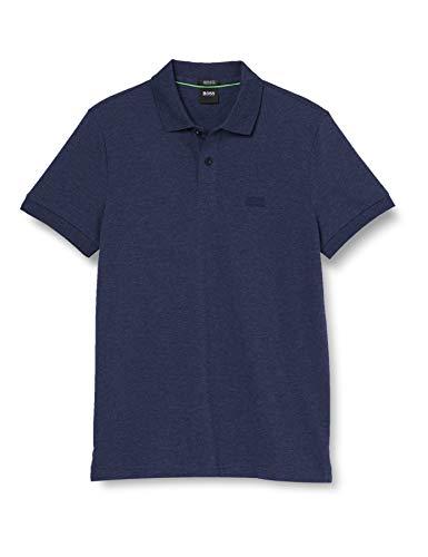 BOSS Herren Piro Poloshirt, Blau (Navy 411), Small (Herstellergröße: S)