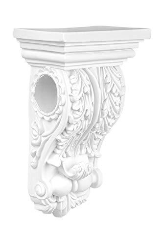 Stuckkonsole | vorgrundiertes schlagfestes Polyurethan | Wandkonsole | Acanthus | Innendekor | PU | Hexim Perfect | 165 x 95 mm | C2006