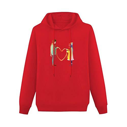 NoNo Pullover Sweatshirt der Strickjackefrauen Kapuzenpullover Weibliche Liebe Fiktionale Figur rot XLLässige Kordelzug und einfarbigem Aufdruck auf der Vorderseite Bündchen mit Langen Ärmeln
